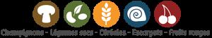 Champignons - Légumes secs - Céréales - Escargots - Fruits rouges