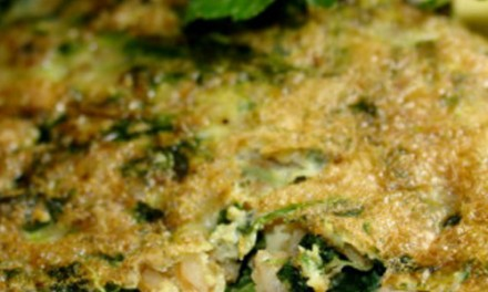 Spelt and spinach omelet
