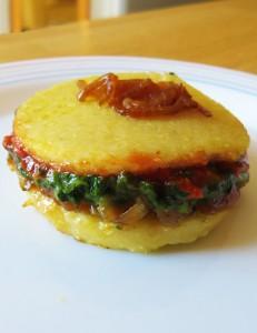 Croque Polenta légumes