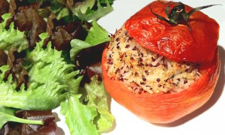 Tomates farcies au riz des 2 mondes
