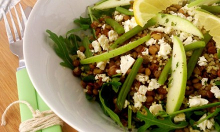 Fair lentils and semolina salad