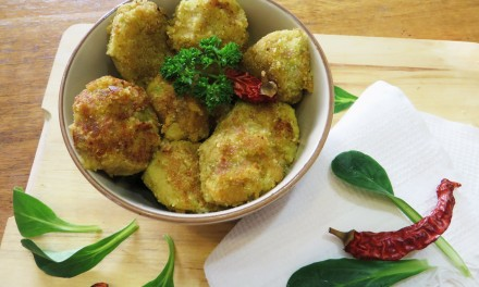 Curry chickpeas & Zucchini balls