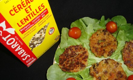 Cereals and lentils patties with vegetables