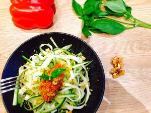 Spaghettis courgette Rawlognaise