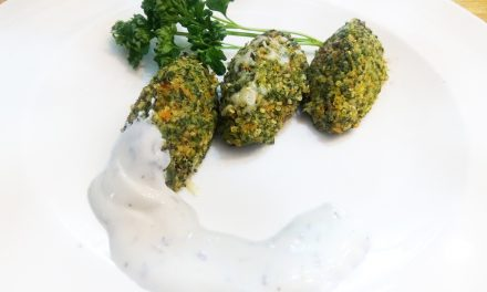 Vegetables and quinoa plant quenelles