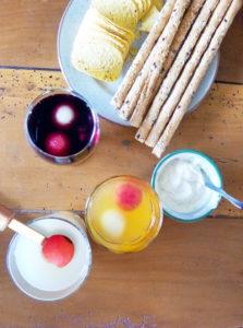 Glaçons aux fruits d'été melon pasthèque rafraichissant