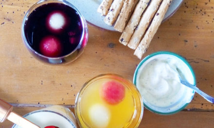 Homemade summer fruits ice cubes