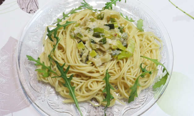 Pasta with leek sauce: delicious, simple and fast!
