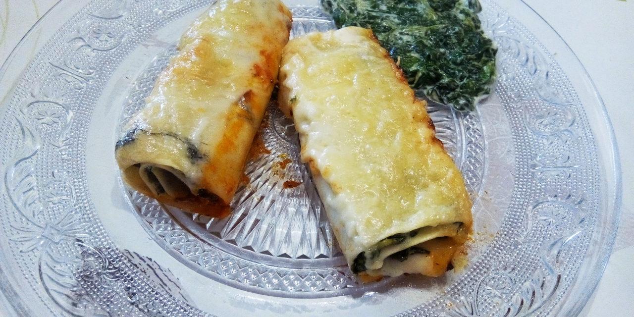 Lasagnes roulées aux épinards et fromages frais