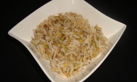 Rice and pulses blend with lemon and coriander