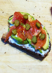 Fresh summer avocado slice