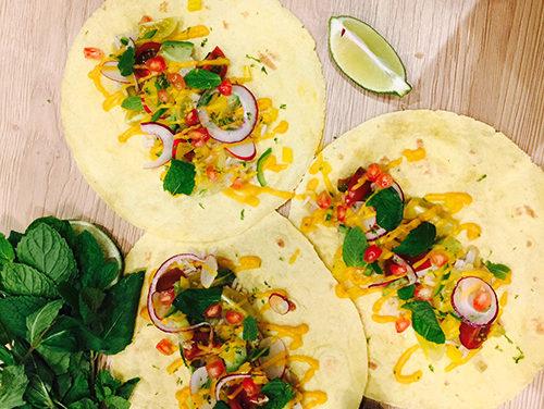 Riz basmati et légumes secs en tacos