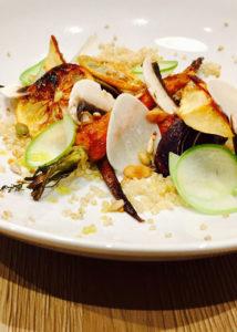Quinoa et légumes rôtis, vinaigrette citron