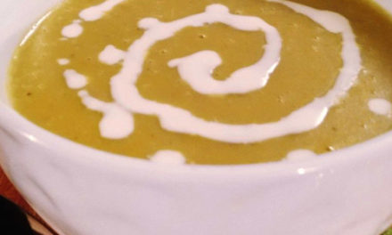 Organic split peas soup with coconut milk