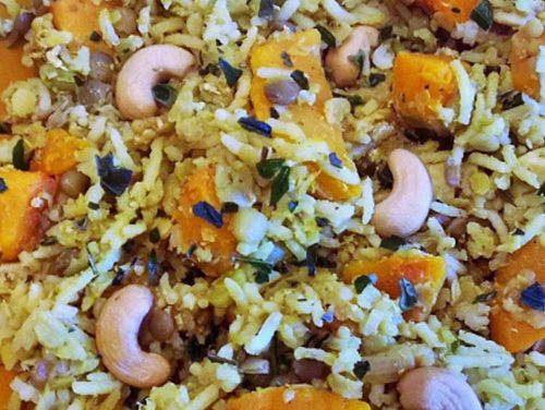 Spicy rice with squash