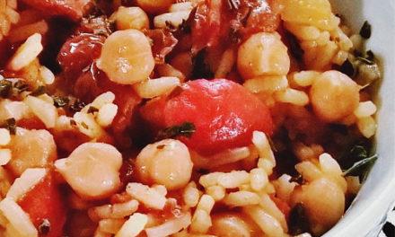 Wok de riz sauté aux légumes du sud épicés