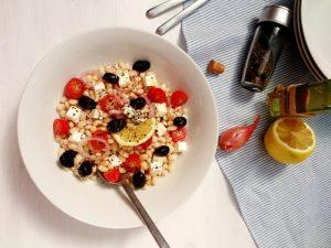Salade de haricots coco à la grecque