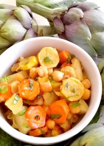 confit de légumes veggie aux amandes croquantes