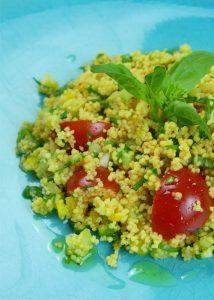 taboulé de couscous pois chiche et lentilles corail