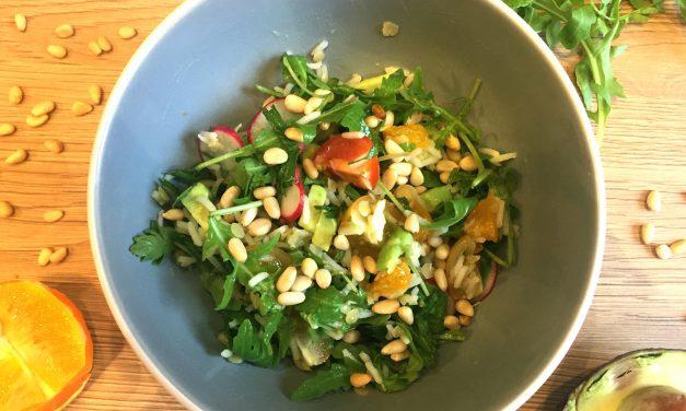Salade de riz et légumes secs