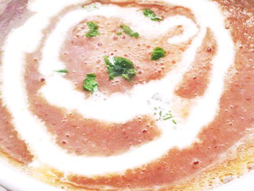 Cappuccino de lentille verte du Puy et sa crème