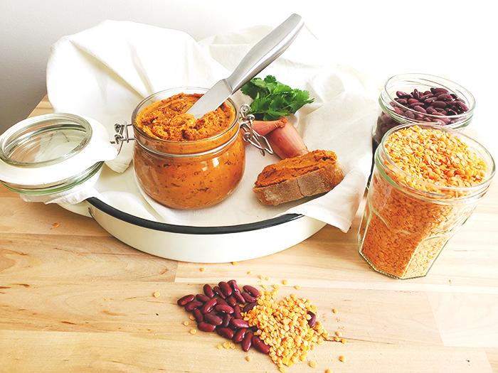 Vegetable pâté for vegetarians and vegans people