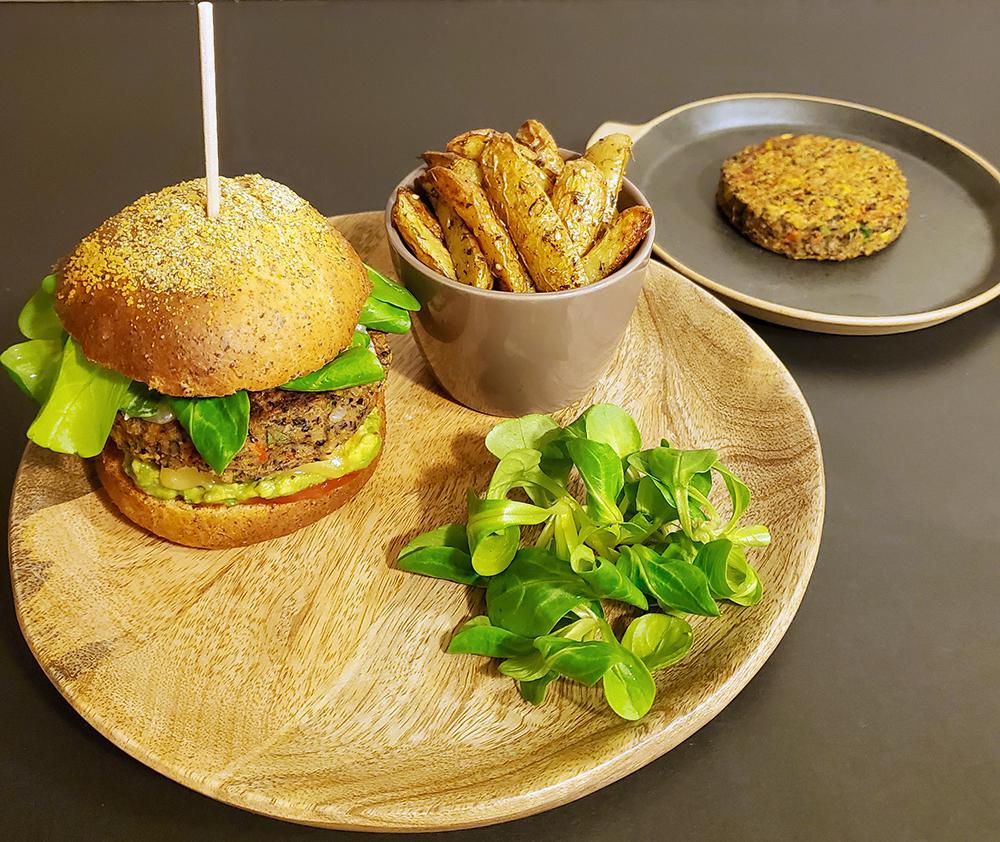 burger vegetarien steak haricot noir